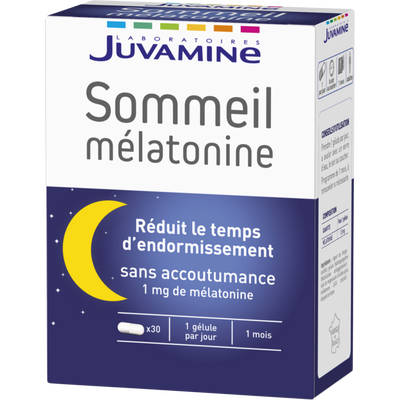 JUVAMINE sommeil mélatonine 1,85mg gélules x30