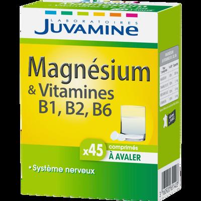 Magnésium + vitamines B1, B2, B6 comprimés à avaler JUVAMINE, x45