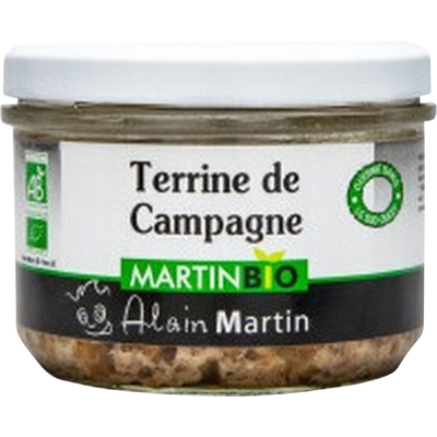 Terrine de campagne bio MARTIN BIO, 180g