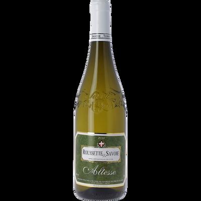 """Vin blanc AOP Roussette de Savoie Altesse """"les vignerons des Terroirsde Savoie"""", 75cl"""