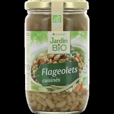 Flageolets cuisinés légumes & aromes bio JARDIN BIO 680g