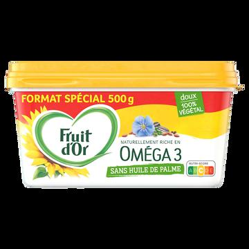 Fruit d'Or Margarine Doux 50% Mg Sans Huile De Palme Oméga 3 Fruit D'or 500g