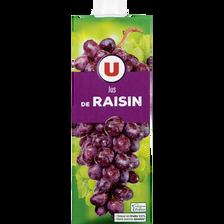 Jus de raisin U, brique de 1l
