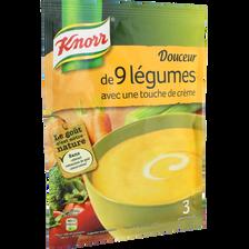 Douceur de 9 légumes déshydratée KNORR sachet, 75cl