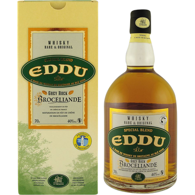 Whisky Eddu Grey Rock Brocéliande, 40°, bouteille de 70cl