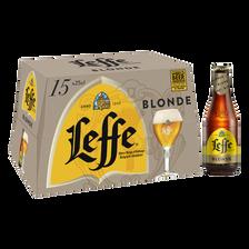 Bière blonde ABBAYE DE LEFFE 6,6°, pack de 15x25cl
