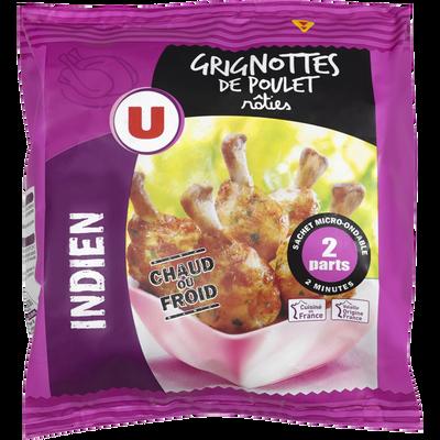 Grignotte de poulet rôtie goût indien, U, France, Sachet, 250g