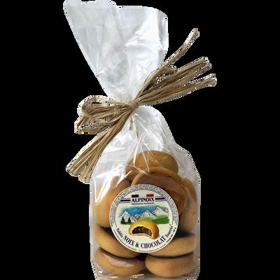 Sablés fourrés à la noix et au chocolat, sachet de 165g