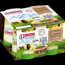 Yaourt lait entier pot carton vanille SAVOIE YAOURT, 4x125g