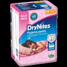 Chouches culottes Dry Nites girl HUGGIES, x16, à 23kg (3-5 ans)