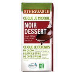 CHOCOLAT NOIR DESSERT ETHIQUABLE BIO 200G