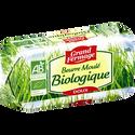 Grand Fermage Beurre Doux Moulé Bio , 82% De Mg, Plaquette De 250g