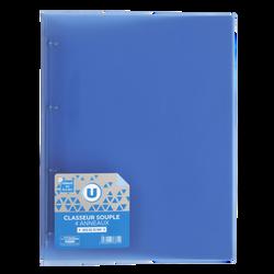 Classeur souple U, format A4, dos 25mm, bleu