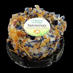 Satonnay pétales de fleurs au lait cru chèvre 12% de matières grassesLE CHEVRIER DES CREAYS, coque de 100g