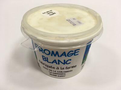 Fromage blanc au lait cru de vaches, nature, FERME DE LA SABLONNIERE, 40%mg, 500g