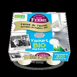 Yaourt Bio nature INVITATION A LA FERME pots 4x125G