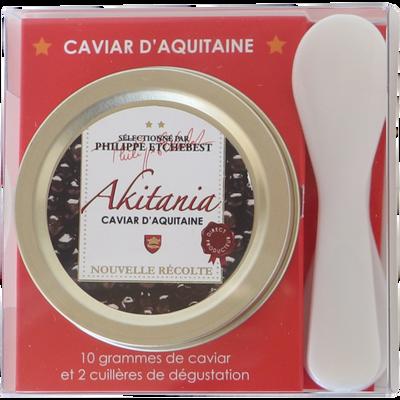 Caviar d'Aquitaine, acipenser baerii, France, boîte 30g