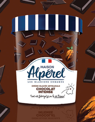 CREME GLACEE CHOCOLAT INTENSE 500ML - ALPEREL GLACIER