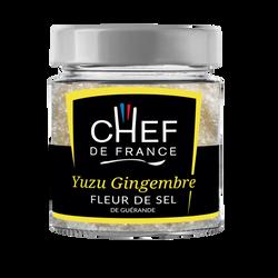 Fleur de sel de Guérande yuzu gingembre CHEF DE FRANCE, pot de 90g