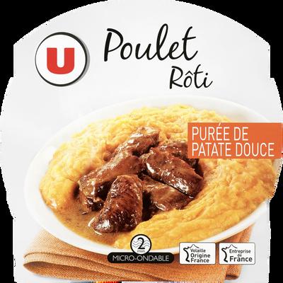Poulet rôti avec purée de patate douce U, barquette micro-ondable 300g