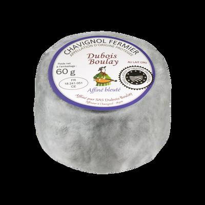 Chavignol AOP au lait cru de chèvre fermier affiné bleuté DUBOIS BOULAY, 28% de MG, 60g