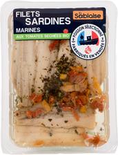 Filet de sardines marinées aux tomates séchées, BIO, LA SABLAISE,transformé en France, 150g