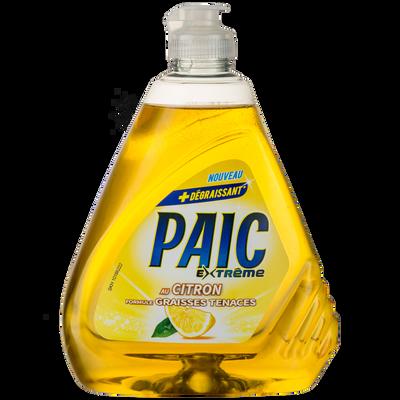 Liquide vaisselle citron extrême PAIC, flacon 500ml