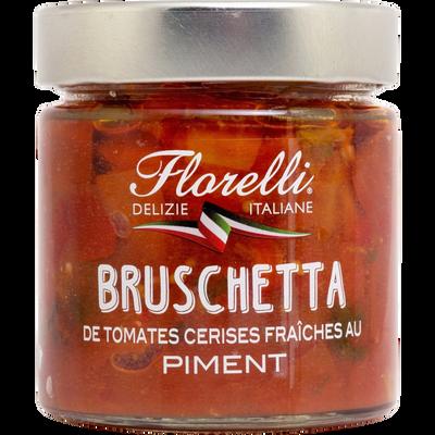 Préparation culinaire a base de tomates cerises fraîches et de piments FLORELLI, 190g