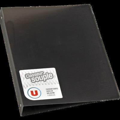 Classeur souple U, format A4, dos 40mm, noir