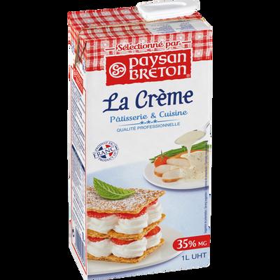 Crème UHT PAYSAN BRETON, 35,2%MG, 1 litre