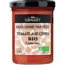 Sauce tomate aux cepès bio GIRAUDET, bocal 360g
