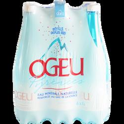 Eau minérale naturelle gazeuse OGEU, pack 6x1 litre