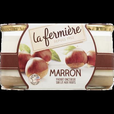 Yaourt bicouche Mont Plaisir aux marrons LA FERMIERE, 2x160g