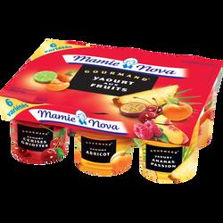 Yaourts Gourmands aux fruits panachés MAMIE NOVA, 6x150g
