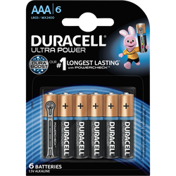 Piles DURACELL, Ultra Power, LR03, 6 unités