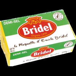 Beurre à teneur reduite matière grasse 60%, plaquette BRIDEL, demi sel250g