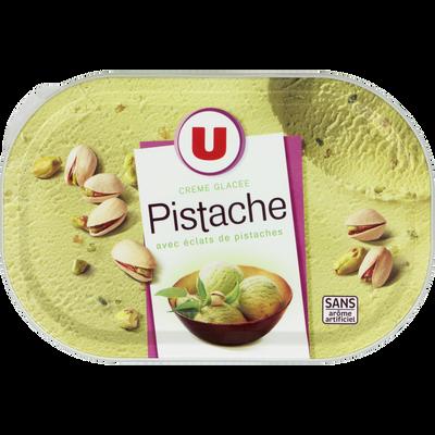 Crème glacée pistache sans arôme artificielle U, 500g