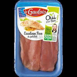 Escalope fine de poulet blanc, OCB LE GAULOIS, France, 2 pièces