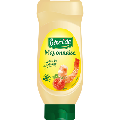 Mayonnaise nature BENEDICTA, flacon souple top down de 585g