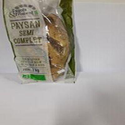 Paysan semi complet  de Fagots & Froment, pain au levain, pétri à la main, cuit au four à bois de 1kg
