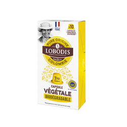 Café moulu de Colombie LOBODIS, capsules végétales x10, 50g