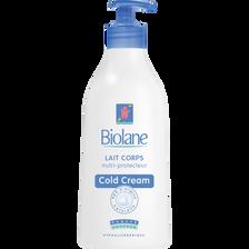 Lait pour le corps nutri-protecteur au cold cream BIOLANE, flacon de 350ml