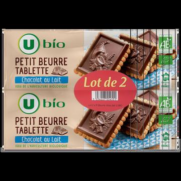 LU Petit Beurre Chocolat Au Lait Tablette U Bio, Paquet 2x150g
