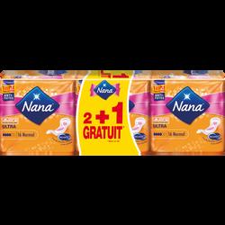 Serviettes ultra normal NANA, 2 paquets de 16 + 1 offert
