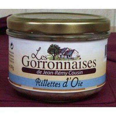 RILLETTES OIE CONSERVE 200GR LES GORRONNAISES