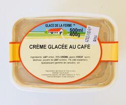 Crème glacée café, GLACE DE LA FERME, bac 500ml
