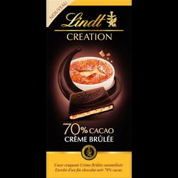 Création Noir 70% Crème brûlée LINDT 140g