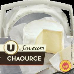 Chaource AOP au lait thermisé U SAVEURS, 22% de MG, 250g