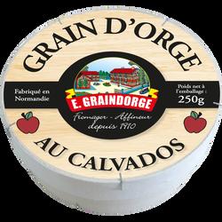 Le Grain d'orge sur paille au lait pasteurisé GRAINDORGE & FILS, 22%MG, 250G