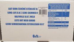 Lait demi-écrémé stérilisé U.H.T., 6x1L